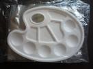 5 sztuk Paleta malarska plastikowa owalna 24 x 17 cm - 3