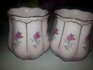 2duze filizanki -kubki  porcelana rozowa czechoslowiaka
