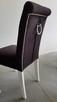 HIT!Producent Krzesło z kołatką z ćwiekami tapicerowane nowe - 6