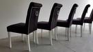 HIT!Producent Krzesło z kołatką z ćwiekami tapicerowane nowe - 2