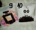 poszewki na poduszki glamour na wzór coco chanel