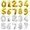 Balon foliowy-cyfra cyferka. W kształcie cyfry złote srebrne