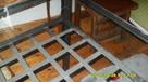 Stol metalowo -szklany.Metaloplastyka - 4