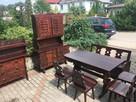 meble z drwena komoda,kredens,stół,krzesła,ława