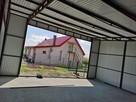 Garaż blaszany z bramą, jednospadowy dach, blaszak wiata 7x8 - 5