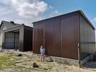 Garaż blaszany z bramą, jednospadowy dach, blaszak wiata 7x8 - 3