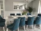 Krzesło z kołatką pinezkami tapicerowane pikowane chesterfie - 4