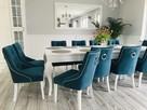 Krzesło z kołatką pinezkami tapicerowane pikowane chesterfie - 1