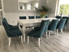 Krzesło z kołatką pinezkami tapicerowane pikowane chesterfie - 2