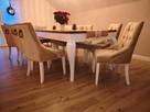Krzesło modne nowe pikowane tapicerowane z kołatką chesterfi
