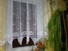 Szydełkowa firana 140x70 biała bawełna
