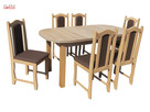 Niska cena! Najwyższa jakość Zestaw Trial Stół + 6 Krzeseł