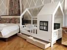 Łóżko domek dla dziewczynki Aster z szufladami naturalne - 2