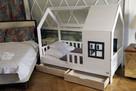 Łóżko domek dla dziewczynki Aster z szufladami naturalne