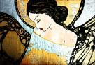 Anioły recznie malowane na desce ,płótnie .Obrazy dekoracje - 3