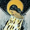 Anioły recznie malowane na desce ,płótnie .Obrazy dekoracje - 4