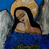 Anioły recznie malowane na desce ,płótnie .Obrazy dekoracje - 7
