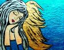 Anioły recznie malowane na desce ,płótnie .Obrazy dekoracje - 8
