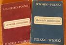 Słownik polsko-angielski lub polsko-włoski.Mini format 14x10 - 2