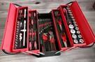 Skrzynia narzędziowa metalowa 86 elementów Boxer