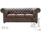 Sofa Classic Chesterfield 3-osobowa - 100% skóra Warszawa