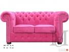 Sofa Classic Chesterfield 2-osobowa plusz