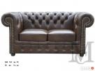 Sofa Classic Chesterfield 2-osobowa - 100% skóra naturalna - 1