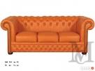 Sofa Tudor Chesterfield 3-osobowa - 100% skóra naturalna - 1