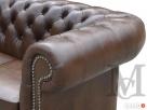 Sofa Classic Chesterfield 2-osobowa - 100% skóra naturalna - 6