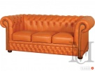 Sofa Tudor Chesterfield 3-osobowa - 100% skóra naturalna - 2