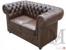 Sofa Classic Chesterfield 2-osobowa - 100% skóra naturalna - 3
