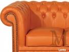 Sofa Tudor Chesterfield 3-osobowa - 100% skóra naturalna - 3