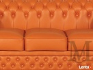 Sofa Tudor Chesterfield 3-osobowa - 100% skóra naturalna - 4