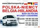 Busy z Olsztyna do Niemiec i Holandii.Przewóz osób i paczek.