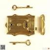Zamek drzwiowy 180mm uniwersalny 100% mosiężny + 2 klucze Chmielnik