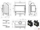 wkład kominkowy ZIBI 12 lewy BS (szyby łączone bez szprosa) - 4