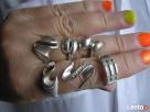 PIERŚCIONKI srebrne, czyste srebro stare z lat 80 wyprzedaz Stary Sącz