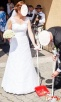 Koronkowa suknia ślubna-okazyjna cena - 3