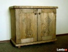Komoda z litego drewna - ręcznie rzeźbiona - 1