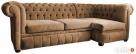 Pikowana sofa narożna chesterfield funkcja spania pojemnik - 3