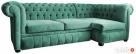 Pikowana sofa narożna chesterfield funkcja spania pojemnik Gdańsk