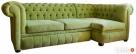 Pikowana sofa narożna chesterfield funkcja spania pojemnik - 4