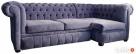 Pikowana sofa narożna chesterfield funkcja spania pojemnik - 6