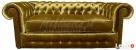 Srebrna/Złota Sofa Chesterfield York głęboko pikowana styl - 5