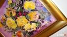 Obraz olejny Żółte róże Rabka-Zdrój