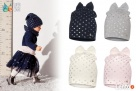 Czapki dla dzieci dziewczynki na jesień zimę Broel 37-57 - 3