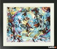 Obraz akwarelowy, abstrakcyjny, kolorowy -Joarta abstrakcje Karpacz