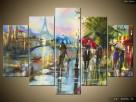 Paryż w deszczu, Obrazy na płótnie, Pomysł na prezent,Canvas - 5