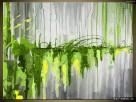 Zielony wodospad, OBRAZY, pomysł na prezent,Obraz na płótnie