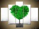 Drzewko miłości, Obraz na płótnie, Canvas, TRYPTYK, sklep - 5